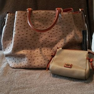 Dooney & Bourke Ostrich Large Barlow Satchel